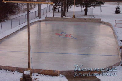 details about build your own hockey rink backyard ice rink plans